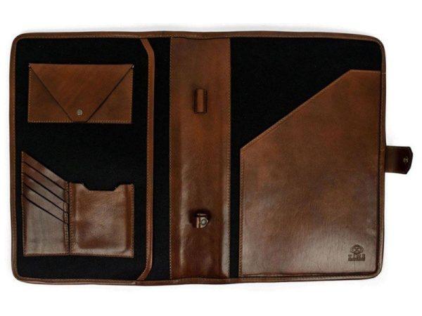 Dark Brown Full Grain Leather Organizer - The Call of the Wild 4