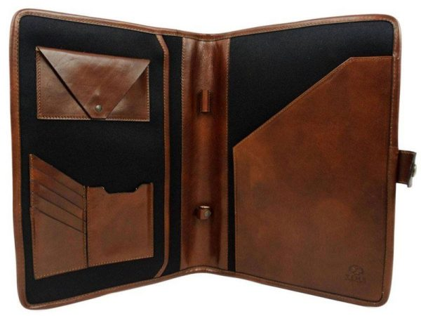 Dark Brown Full Grain Leather Organizer - The Call of the Wild 5