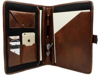 Dark Brown Full Grain Leather Organizer - The Call of the Wild 7