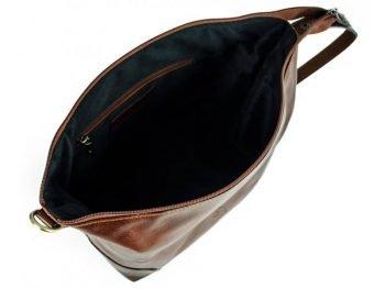 Dark Brown Genuine Leaher Toiletry Bag - Autumn Leaves11