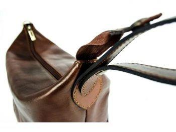 Dark Brown Genuine Leaher Toiletry Bag - Autumn Leaves9