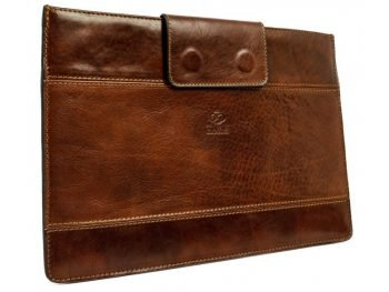 Dark Brown Real Leather Laptop Sleeve2
