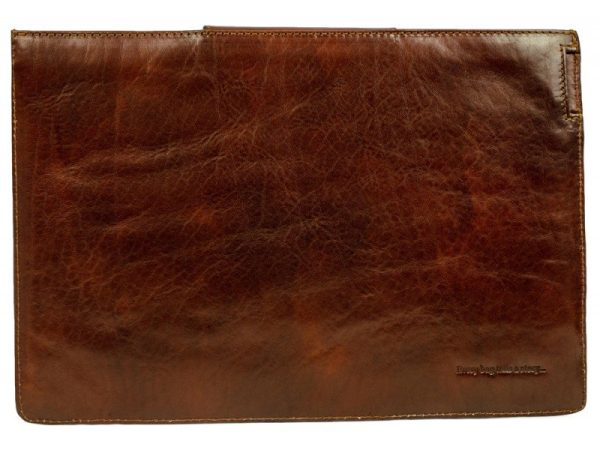 Dark Brown Real Leather Laptop Sleeve3