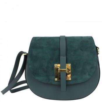 Elegant Blue Shoulder Handbag - Marta