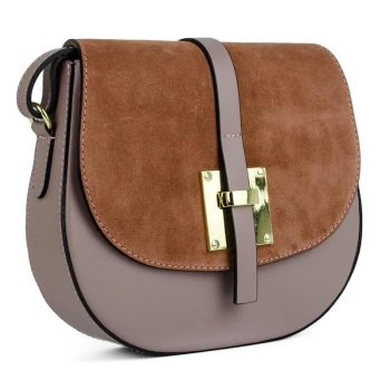 Elegant Brown Shoulder Handbag - Marta1