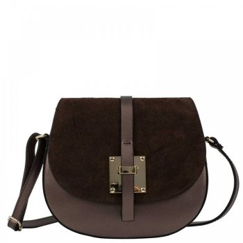 Elegant Dark Brown Shoulder Handbag - Marta