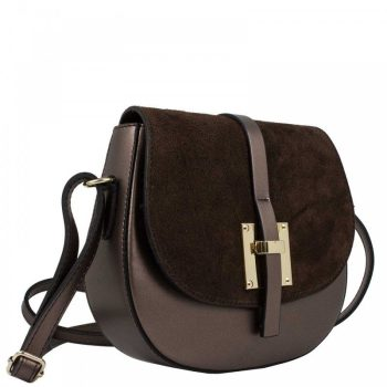 Elegant Dark Brown Shoulder Handbag - Marta1