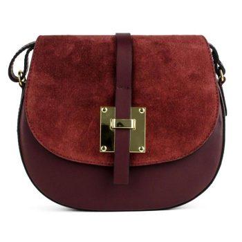 Elegant Garnet Shoulder Handbag - Marta