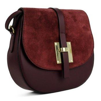Elegant Garnet Shoulder Handbag - Marta1
