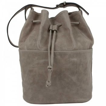 Gray Aged Leather Purse - Waomi