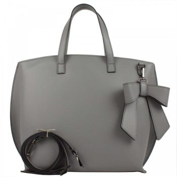Gray Elegant Leather Purse - Miriam
