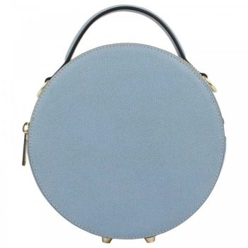 Light Blue Round Retro Mini Purse - Mia