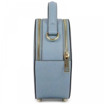 Light Blue Round Retro Mini Purse - Mia1