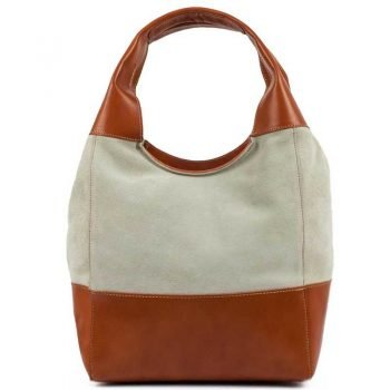 Light Brown Chamois Leather Purse For Women - Doppio