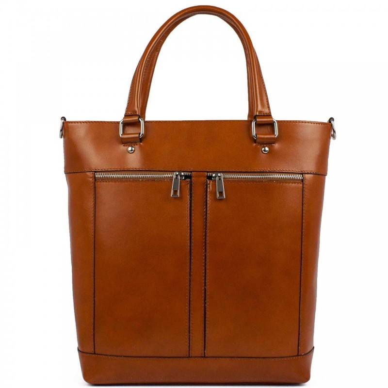 Light Brown Formal Leather Messenger Bag For Women - Agata  e0b2bfd13ecc4