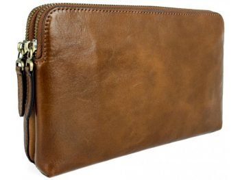 Men's Brown Leather Clutch Bag - Ulysses1