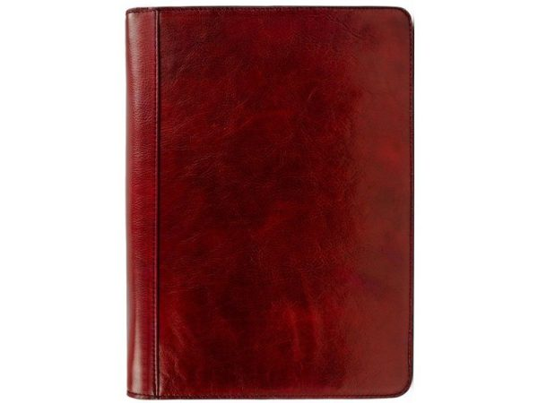 Red Classic Lether Document Folder - Candide1
