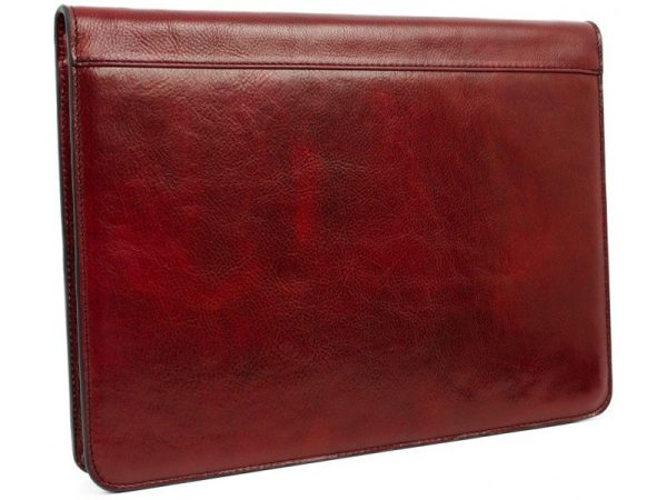 Red Classic Lether Document Folder - Candide2