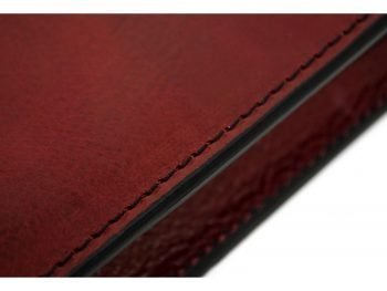 Red Classic Lether Document Folder - Candide8