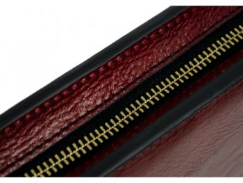Red Classic Lether Document Folder - Candide9