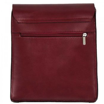 Red Leather Shoulder Messenger Handbag - Jacob - 2
