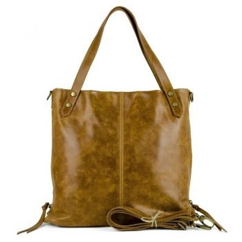 Soft Nubuck Leather Brown Purse - Foggia