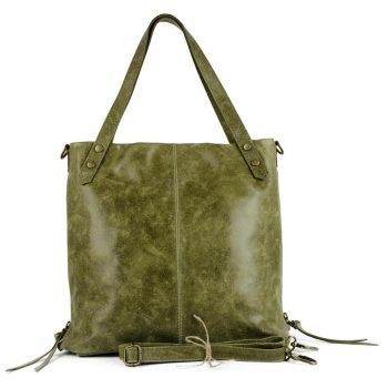 Soft Nubuck Leather Green Purse - Foggia