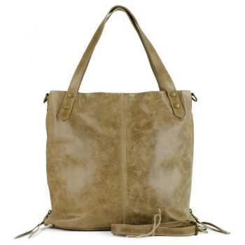 Soft Nubuck Leather Sand Purse - Foggia