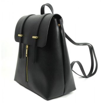Stylish Black Leather Business Backpack - Sandy - 2