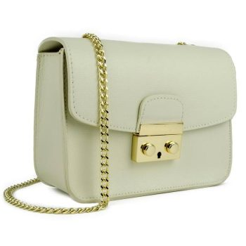 White Elegant Leather Handbag - Milan1