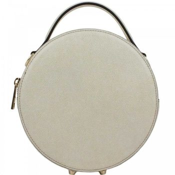 White Round Mini Retro Purse - Mia