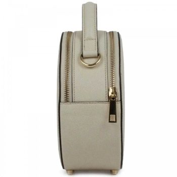 White Round Mini Retro Purse - Mia1
