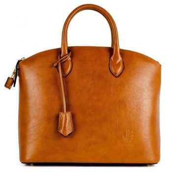 Women's Brown Genuine and Natural Italian Leather Tote Bag - Verona