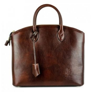 Women's Dark Brown Genuine and Natural Italian Leather Tote Bag - Verona