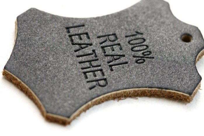 Real Leather Label
