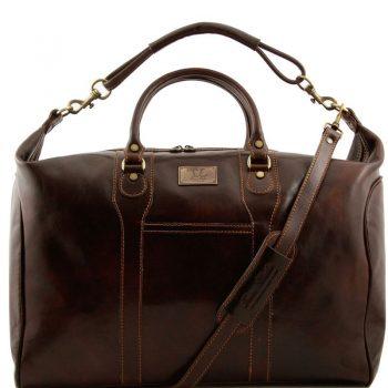 AMSTERDAM Travel leather weekender bag