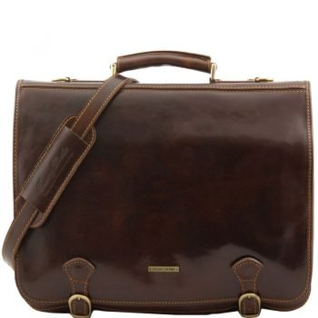 ANCONA Leather messenger bag - Large size
