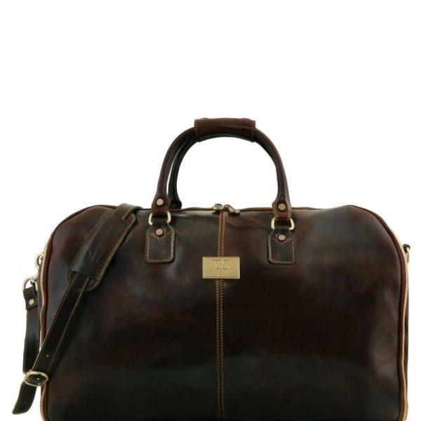 ANTIGUA Travel leather duffle - Garment bag