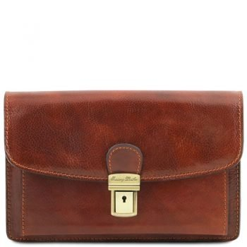 ARTHUR Exclusive leather handy wrist bag for man