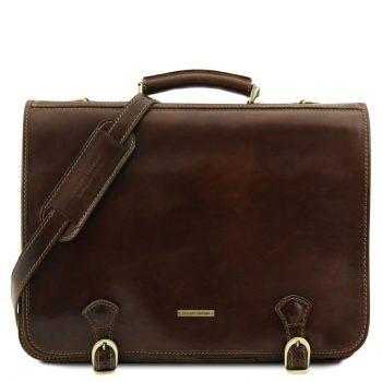 Ancona Leather Messenger Bag - Large Size
