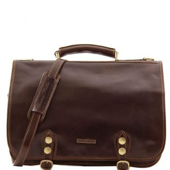 CAPRI Leather messenger bag 2 compartments