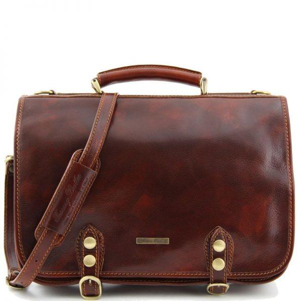 Capri Leather Messenger Bag 2 Compartments