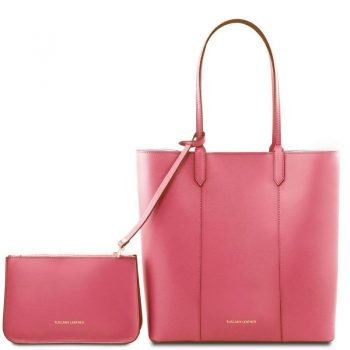 DAFNE Leather shopping bag