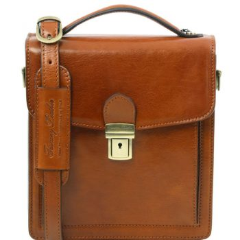 DAVID Leather Crossbody Bag - Small size
