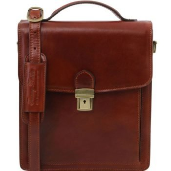 DAVID Leather Crossbody Bag - large size