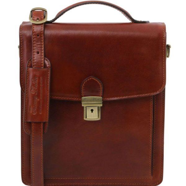DAVID Leather Crossbody Bag - large size