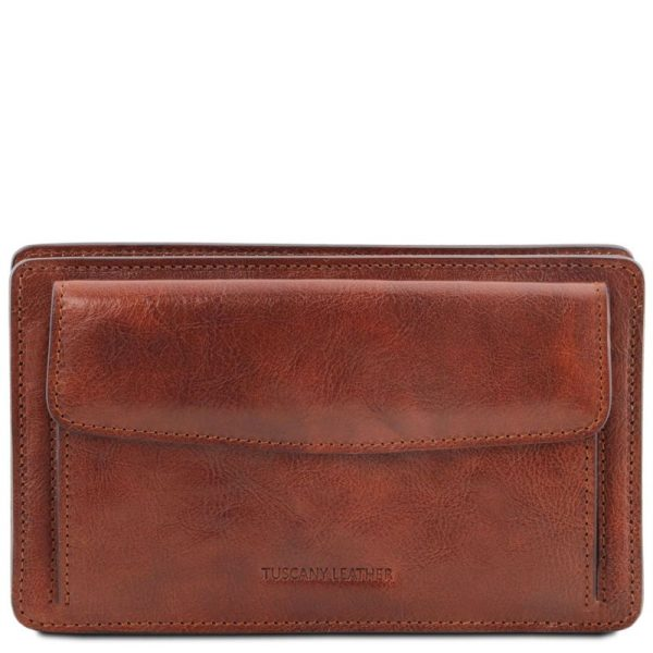 DENIS Exclusive leather handy wrist bag for man
