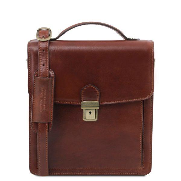 David Leather Crossbody Bag - Small Size