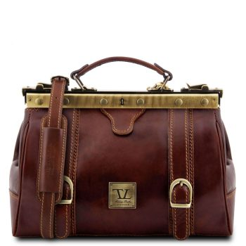 Doctor Gladstone Leather Bag with Front Straps - Monalisa