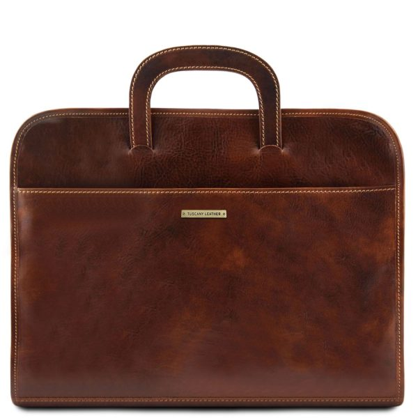 Document Leather Briefcase - Sorrento